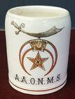 Great Ca. 1900 Shriners Miniature 1/8L Mug with Gilt & Enamel Logo