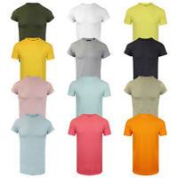 Men's Brave Soul Harrel Long Line Drop Tail Cotton T-Shirt NEW SS19 Sizes XS-L