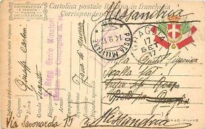768 - Regno - Annullo posta militare 5B su franchigia militare F 9, 14/09/1917