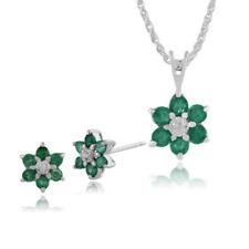 Parure di lusso tondi smeraldo