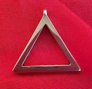Ciondolo Acciaio inox con simbolo alchemico fuoco triangolo