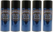 5x Hammerite Hammered Black Metal Spray Paint 400ml Aerosol Aerosol Tins