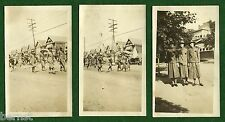 "VINTAGE 1922 CAMPFIRE GIRLS  PARADE PHOTOS 2 3/4 x 4 5/8"" -  NOT SCOUT"