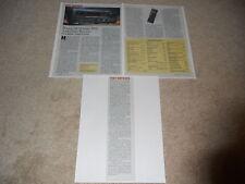 Marantz SR-96 THX Receiver Review, 3 pg, 1996,Full Test