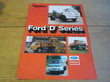 FORD D SERIES TIPPERS BROCHURE jm