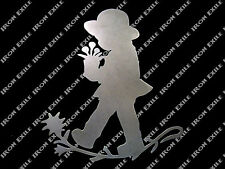 GIRL FLORAL -- Child Silhouette Home Kitchen Decor Wall Yard Art Metal Sign Cute
