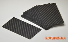 Carbon Fiber 3K Twill Universal Blank Business Cards 100 pce