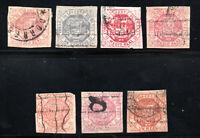Venezuela - (7) 1865 - 1877 Issues / Nice Group/ Varieties    -     Lot 1220226