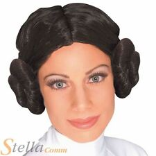 Ladies Princesss Leia Bun Wig Official Star Wars Fancy Dress Costume Accessory