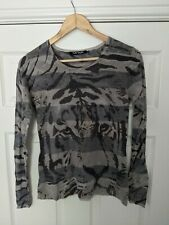Betty Barclay Collection Size UK 10 EU 36 Tiger Print Long Sleeve Top Blouse