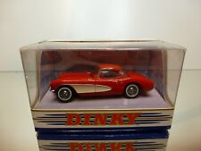 DINKY TOYS DY-23 CHEVROLET CORVETTE 1956 - RED 1:43 - VERY GOOD IN BOX