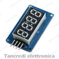 Modulo display 4 cifre seriale con TM1637 shield Orologio (Arduino-Compatibile)