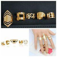 5PCs Boho Style Stack Knuckle Rings Set Heart Shape Midi Finger Decoration