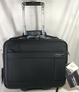 Delsey Helium Elite 17 Trolley Tote Luggage Suitcase Black w/Lock 17918 New Tags
