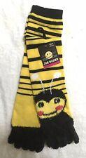 JOE BOXER Ladies  BEE TOE SOCKS Yellow & Black  ~ New