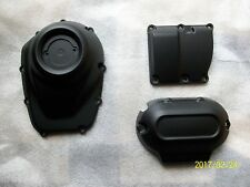 Harley cam cover- top/side transmission cover-2017 milwaukee eight-DENIM BLACK