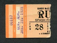1978 Rush Pat Travers concert ticket stub Stevens Point Wi A Farewell to Kings
