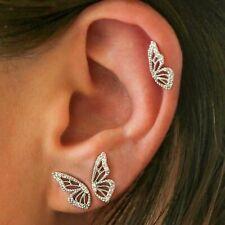 Silver Gold Butterfly Animal Modern Fashion Half Wing Earring Set UK