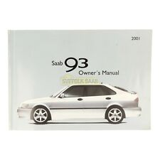 SAAB 93 9-3 9400 2001MY OWNER'S MANUAL HANDBOOK 418871 RARE GENUINE SUFFOLK