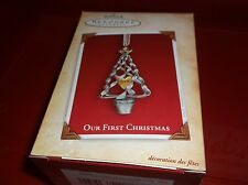 HALLMARK ORNAMENT CHRISTMAS OUR FIRST CHRISTMAS JULIE FORSYTH ARTIST TREE 2004