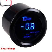 """2"""" 52mm Black Cover Car Digital Blue LED Display  Warning PSI Turbo Boost Gauge"""
