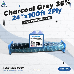"""Window Tint Charcoal Grey 35% Protec 24""""x100ft High Performance 2PLY"""