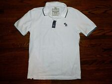 Men's Abercrombie White Knit Top Size XL **Runs Small** Medium or Large