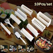 10/set Sushi Fabriquant Kit Rouleau De Riz Moule Cuisine DIY Facile Chef moule