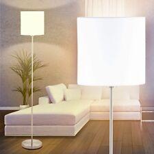 Lese Leuchten Flur Stand Boden Lampen Stehlampe Schlaf Wohn Zimmer Stoff weiß