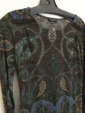 ETRO Abstract Paisley Floral Long-Sleeve Pullover Top - Sz 40 / 6 US Wool Blend