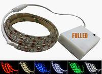 LED Leiste Streifen Band Stripe 30-200CM Mit DC-Stecker +3XAA Batterie Box 4.5V