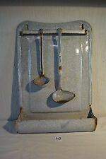 C40 Rare porte ustensile de cuisine en aluminium vintage émaillé