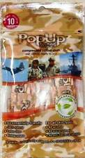 "Military Emergency PopUp Towel Biodegradeable Wipes 1st Aid Survival 9""x10"" 10pk"