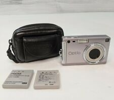 Pentax Optio S5i Digital Camera Case & 2 Battery's Included TESTED - Works
