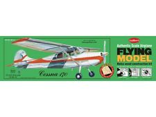 """Guillows 302 - Cessna 170 Authentic Scale 1:18 Balsa Wood Kit 24"""" Wing Span"""