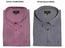 Men's Button Down Striped Cotton Casual Shirts & Tops