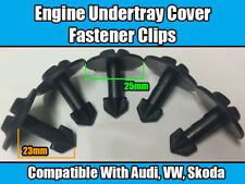 50x Clips for audi a2 a4 a6 a8 TT Moteur Undertray Guard Cover Black Plastic