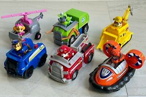 Paw Patrol SET of 6 Vehicles with their figures.