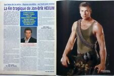 JON-ERIK HEXUM (Cover Up) => 2 PAGES 1991 FRENCH CLIPPING