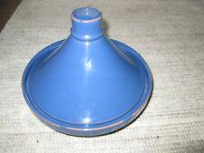 CRATE & BARREL blue ceramic Tagine Moroccan slow cooker—stew pot.   Portugal