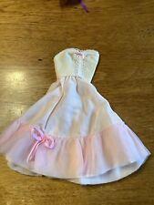 Vintage 80s Genuine Barbie Fashion Pink Sleeveless Dress Matching Bolero Jacket