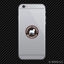 Danger Farting  00004000 Bullmastiff Cell Phone Sticker Mobile Die Cut
