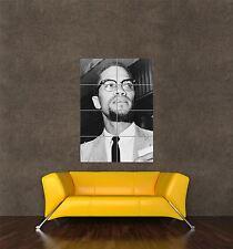 Poster Foto impresión de activista de derechos civiles Malcolm X pequeña nación Islam seb541