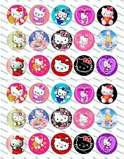 "30 Precut 1"" Hello Kitty Bottle cap Image Set 1"
