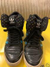 Rare... Sleek Series Black Adidas high top Ladies Trainers size UK 6