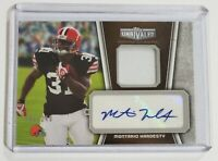 2010 Topps Unrivaled Montario Hardesty Rookie Card Autograph & Jersey /249