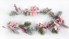 Weihnachtsstern- Tannengirlande 160cm rot DP künstliche Girlande Weihnachten