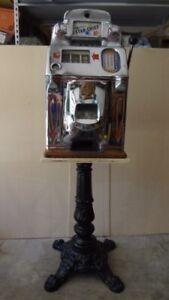 Slot Machine Cast iron Ornate Sculptured Stand Also For Trade Stimulator