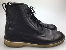 Clarks Desert Mali High 6 Eye Black Leather Lace Up Crepe Sole Boots Men's 10 M