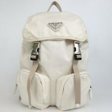 Authentic PRADA Triangle with logo Backpack · Daypack Nylon[Used]